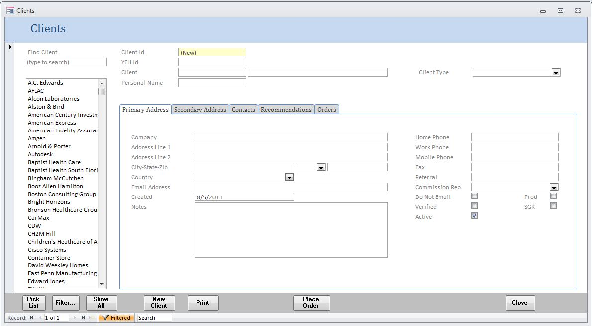 Microsoft Access Database Pros Sample Ms Access Database Forms And